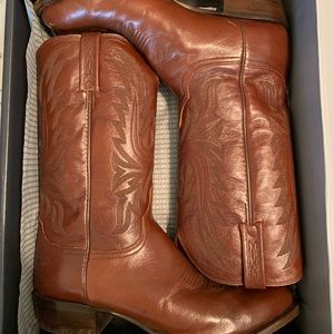 Lucchese Men's Leather Cowboy Boots